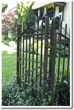 Garden Gate, Country Weddings at Mrs. Mitchell's Restaurant